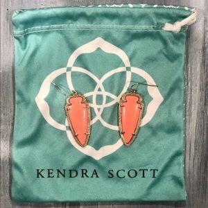 Kendra Scott Sky Earrings in Coral